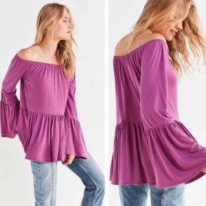 Urban Outfitters | Bell Sleeve Off Shoulder Top